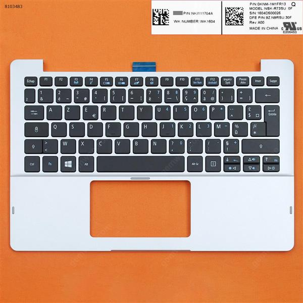 ACER V5-122P with FR Keyboard case Upper cover Silver(Without touchpad) Cover N/A
