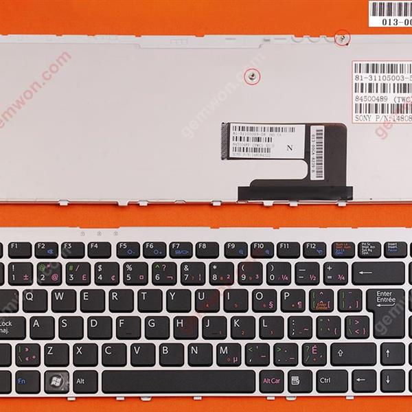 SONY VGN-FW SILVER FRAME BLACK CA/CF N/A Laptop Keyboard (OEM-B)