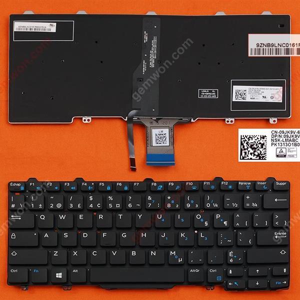 DELL Latitude E7250 BLACK (Backlit,For Win8) CA/CF N/A Laptop Keyboard (OEM-B)