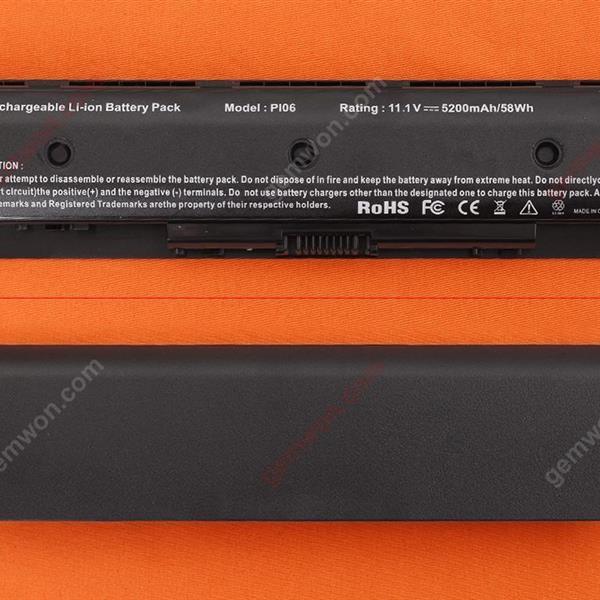 HP HSTNN-LB4N HSTNN-LB4O HSTNN-YB4N HSTNN-YB4O PI06 PI06XL PI09 H6L38AA Battery 11.1V 5200MAH  6 CELLS