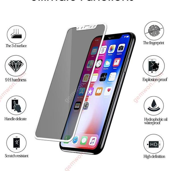 iPhone X 3D mobile phone surface anti-privacy film (white)iPhone x