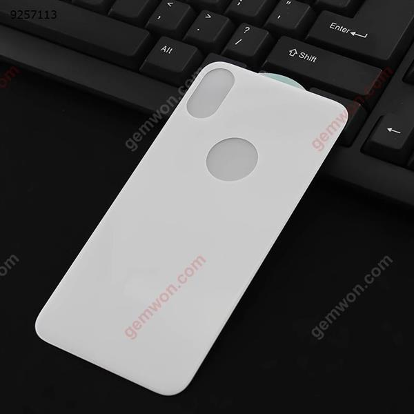 iPhone X Cell Phone 5D Surface Steel Rear Film (White)iPhone x