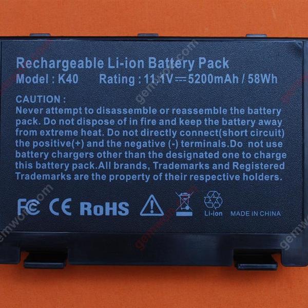 ASUS A41 K40 K50 F82 K80 Series Battery 11.1V-5200MAH 6 CELLS