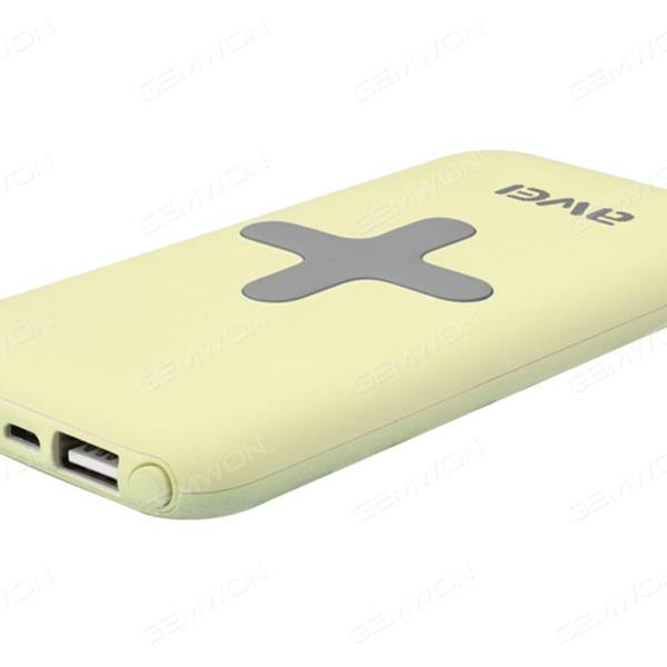 Input 5v-2A,2USB 5V-1A  5V-2A, Wireless output 5v-1A,7000MAh It also supports both wired and wireless output,Yellow Charger & Data Cable P98K