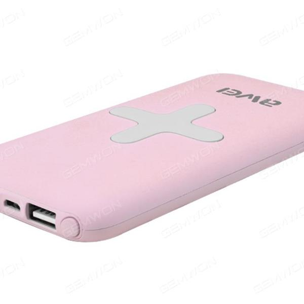Input 5v-2A,2USB 5V-1A  5V-2A, Wireless output 5v-1A,7000MAh It also supports both wired and wireless output,Pink Charger & Data Cable P98K