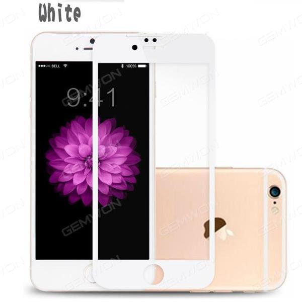iphone7 plus anti-fingerprint full-screen tempered film silk screen protection of mobile phone film white Screen Protector IPHONE7 PLUS