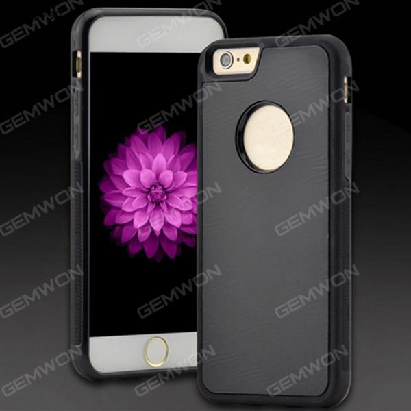 Gravity cell, Apple mobile phone ring buckle bracket with a dust absorption mirror backplane plus nano anti gravity mobile phone shell, iPhone 7 Plus, Black Case iPhone 7 Plus Gravity cell