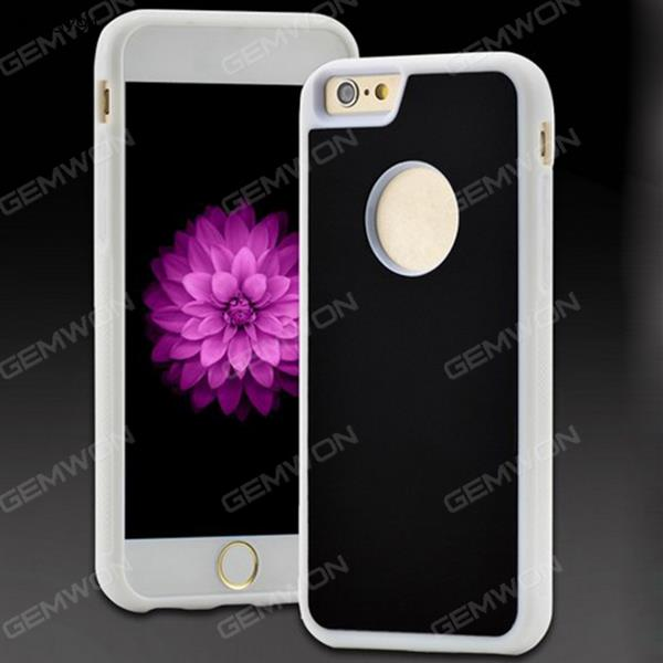 Gravity cell, Apple mobile phone ring buckle bracket with a dust absorption mirror backplane plus nano anti gravity mobile phone shell, iPhone 7 Plus, White Case IPHONE 7 PLUS GRAVITY CELL