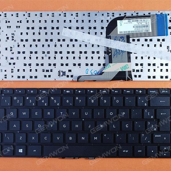 HP Pavilion 14-v219tx v245tx v246tx V034TX BLACK (Without FRAME,Win8) BR N/A Laptop Keyboard (OEM-B)
