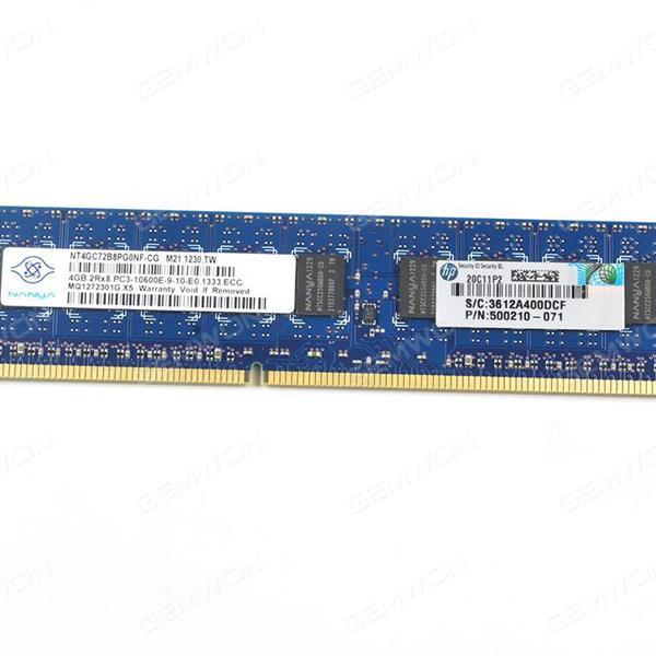 HP 4GB (1x4GB) Dual Rank x8 PC 3-10600 (DDR3-1333) Unbuffered CAS-9 Board N/A