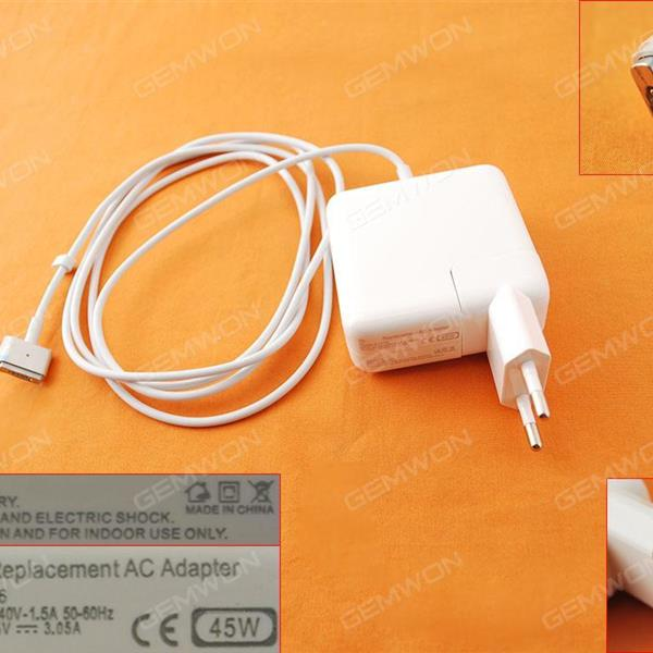 Apple Macbook 14.5V 3.1A 45W Connector Shape T For A1304 A1369 (High Copy) Plug:US Laptop Adapter APPLE MACBOOK 45W