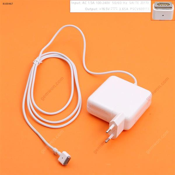Apple Macbook 16V 3.65A 60W  Connector Shape T For A1502 (High copy)  MS1 Plug:EU Laptop Adapter APPLE MACBOOK 60W