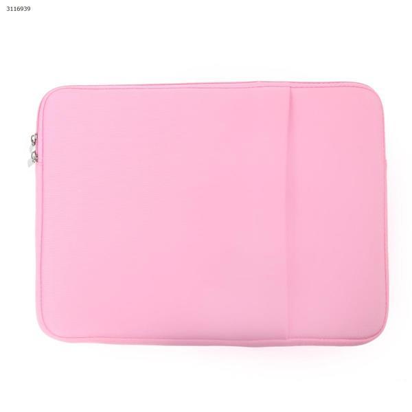 15 inch Computer handbag, MacBook DELL Lenovo computer general package, Double pocket(pink) Case 15 INCH COMPUTER HANDBAG