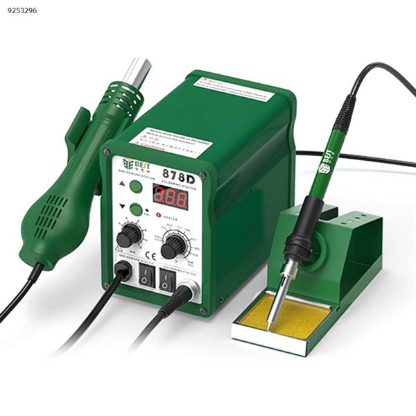 Hot air gun desoldering station two in one pull soldering station mobile phone repair spiral hot air table thermostat electric soldering iron soldering station Repair Tools BST-878D