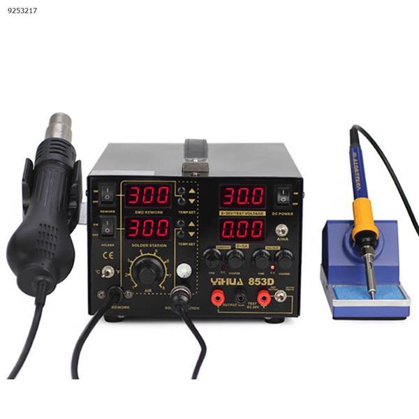 3 en 1 SMD pistola de aire caliente soldador 30 V 5A DC fuente de alimentación reparación Estación de soldadura 110 V/220 V Repair Tools YIHUA-853D 5A