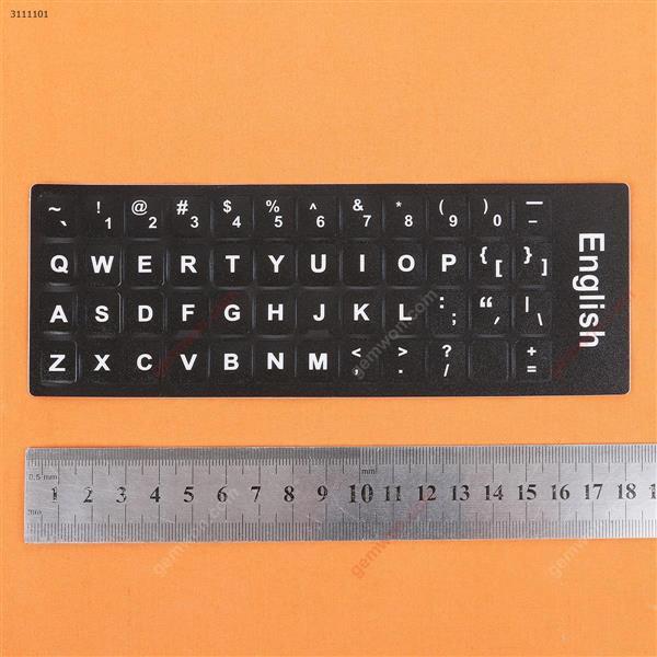 US Keyboard Sticker,Black with White letter. Change keyboard language layout by stick lables on keyboard keys. Sticker US