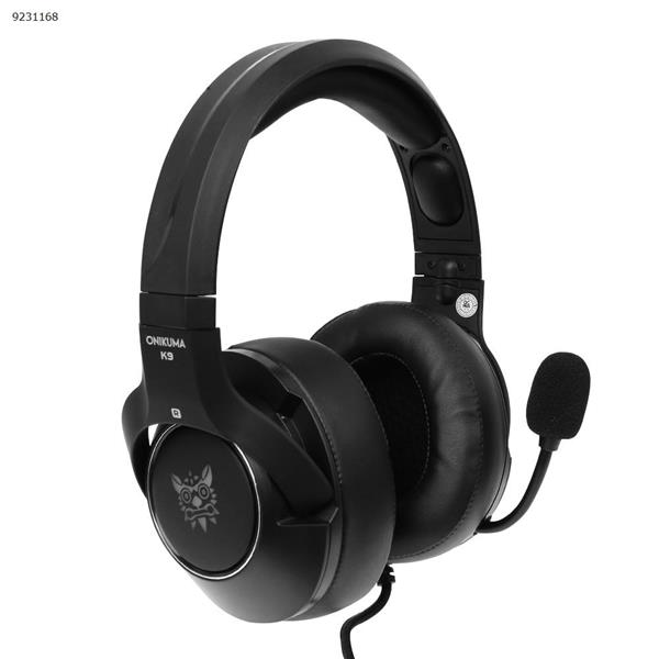 PS4 XBOX ONE ONIKUMA K9  Headphones for games  Cable light-emitting headphones(Black RGB light) Headset K9