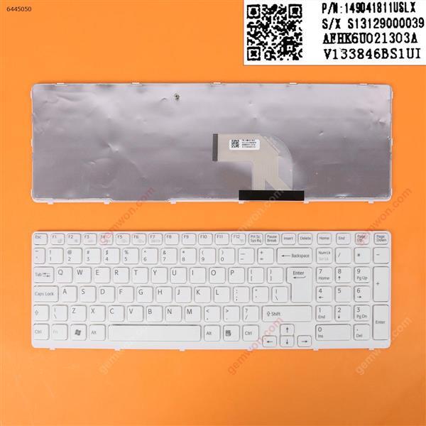 SONY SVE15 WHITE FRAME WHITE OEM  UI 149041811USLX Laptop Keyboard (OEM-B)