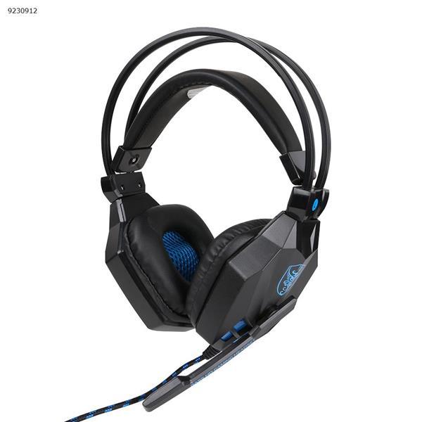 SY850MV  USB luminous game headset Internet cafe e-sports headset red blue Headset SY850MV