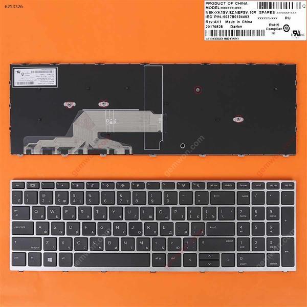 HP Probook 450 G5 455 G5 470 G5 Silver FRAME BLACK WIN8 RU L01028-031  9Z.NEESW00S  NSK-XJ0SW0S  L21585-001 Laptop Keyboard (OEM-B)