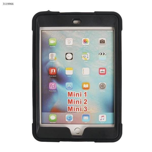 iPad mini123   B contrast color protective cover, the latest silicone support three anti-protective cover, black Case IPAD MINI123  B CONTRAST COLOR PROTECTIVE COVER