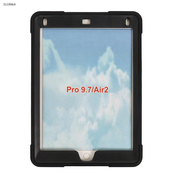 iPad pro 9.7  B contrast color protective cover, the latest silicone support three anti-protective cover, black Case IPAD PRO 9.7 B CONTRAST COLOR PROTECTIVE COVER
