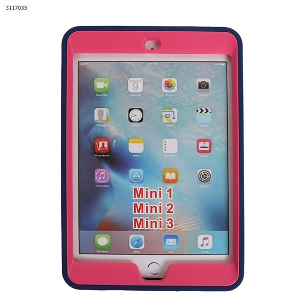 ipad mini1/2/3 armor contrast color plate protector,anti-fall Plate and shell,Navy blue+rose red Case IPAD MINI1/2/3 ARMOR CONTRAST COLOR PLATE PROTECTOR