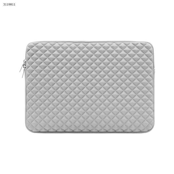 11 inch Diamond-pattern laptop bag waterproof laptop bag for MacBook Air Pro 11 13.3 15.6 for Xiaomi Air 13 15 laptop case for MacBook,gray Case 11 INCH DIAMOND PATTERN LINER BAG
