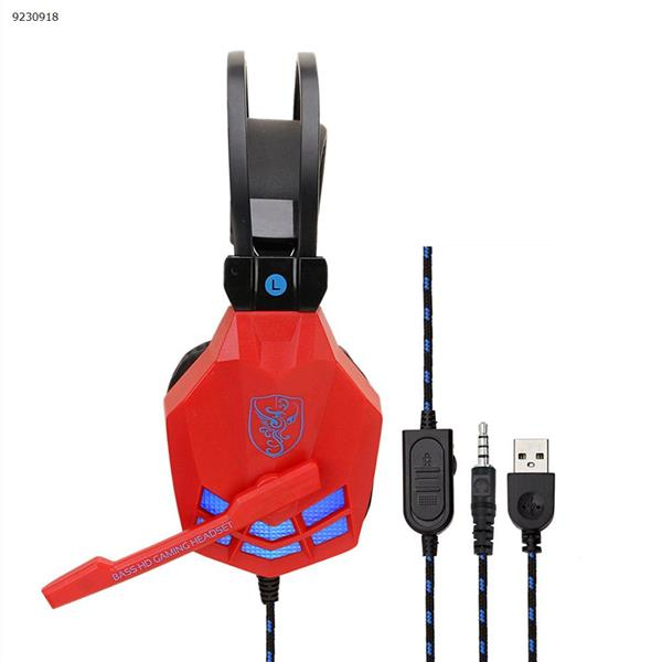 SY850MV vibration luminous Internet cafe computer headset esports game headset red blue Headset SY850MV