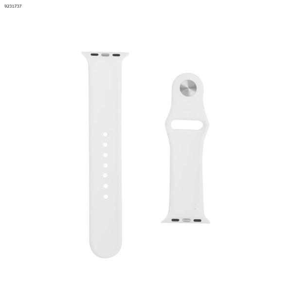 Applicable iwatch1234 silicone strap Apple Watch with apple watch band monochrome watch strap (white) 42-44MM Other IWATCH1234