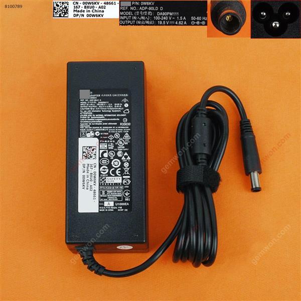 Dell 19.5V 4.62A 90W Φ7.4/7.5x5.0mm( Quality : A+ ) Laptop Adapter 19.5V 4.62A 90W Φ7.4/7.5X5.0MM
