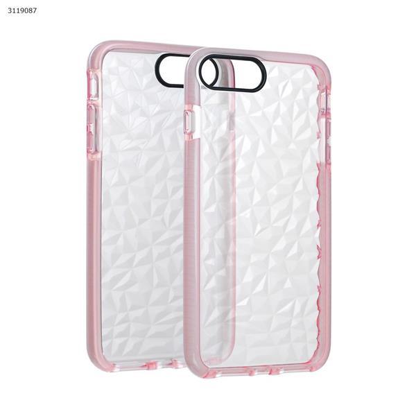 iphone6plus/7plus Drop-resistant transparent soft shell,pink Case IPHONE6PLUS/7PLUS DROP-RESISTANT TRANSPARENT SOFT SHELL