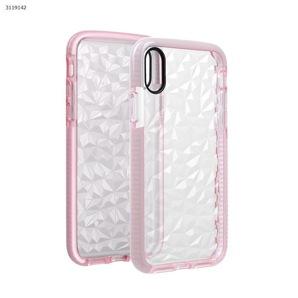 iphoneX Drop-resistant transparent soft shell,pink Case IPHONEX DROP-RESISTANT TRANSPARENT SOFT SHELL