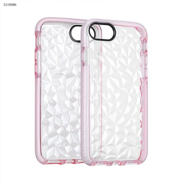 iphone6/6s/7/8 Drop-resistant transparent soft shell,All-inclusive mobile phone shell,pink Case IPHONE6/6S/7 DROP-RESISTANT TRANSPARENT SOFT SHELL