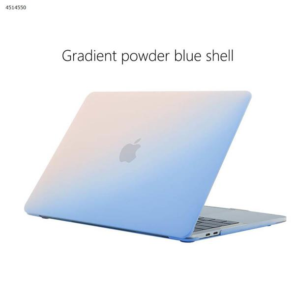 Applicable Apple notebook case MacBook Pro 13 inch computer case frosted painted rainbow shell (13.3 Air A1466/A1369 gradient powder blue) Screen Protector N/A