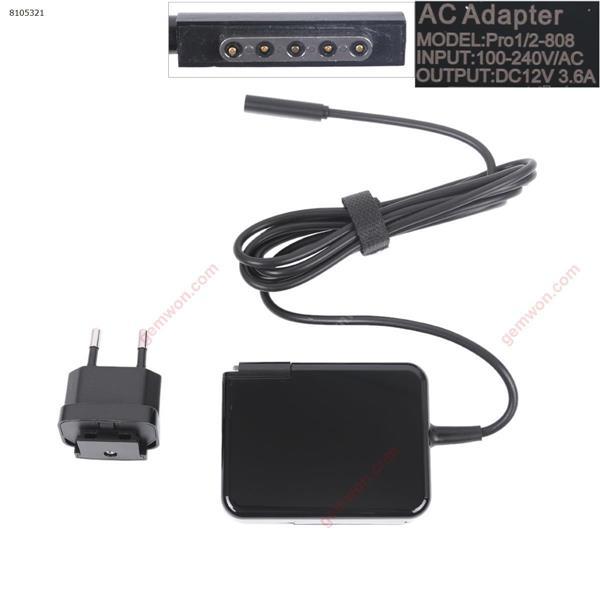 Microsoft 12V 3.6A 45W(Five - hole) (High Copy ) Plug:EU Laptop Adapter 12V 3.6A 45W