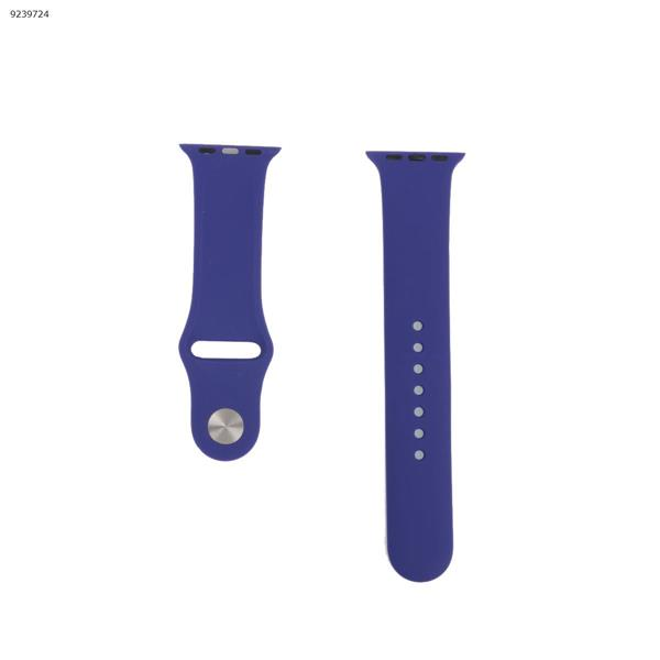 Applicable iwatch1234 silicone strap apple watch with apple watch band monochrome watch strap (purple) 38MM-40MM Other IWATCH1234