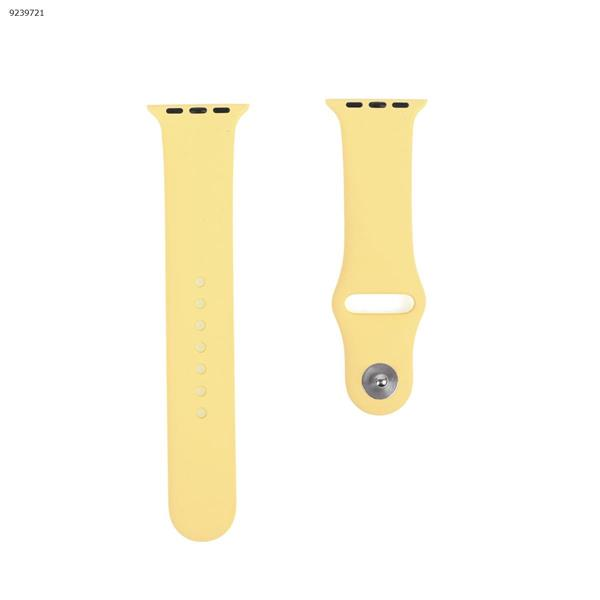 Applicable iwatch1234 silicone strap Apple Watch with apple watch band monochrome watch strap (yellow) 38MM-40MM Other IWATCH1234
