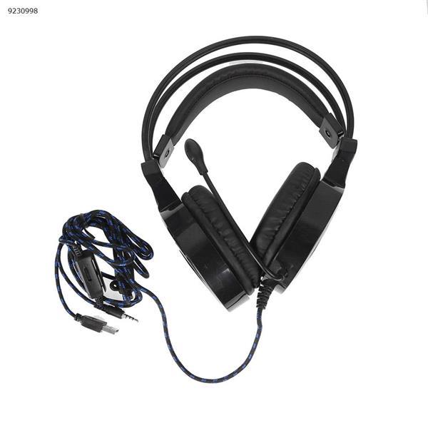 SY855MV anti-violence I e-sports luminous headset head type game headset black blue Headset SY855MV