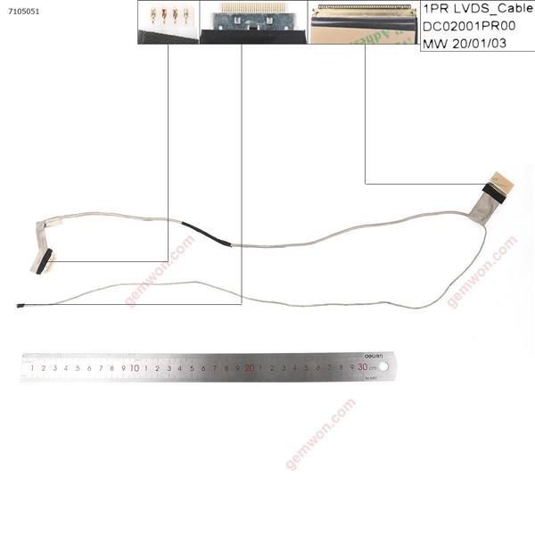 LENOVO G500 G505 G510(For Discrete Video card ),OEM LCD/LED Cable DC02001PR00   DC02001PR10