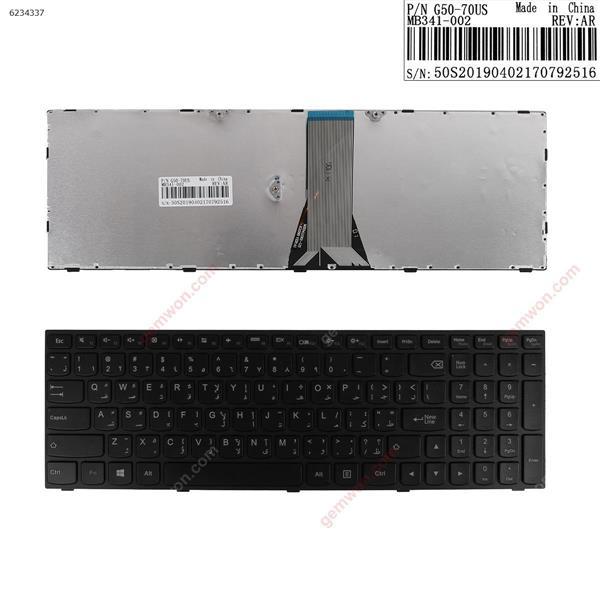 LENOVO G50-70 BLACK FRAME BLACK  WIN8 AR N/A Laptop Keyboard (OEM-A)