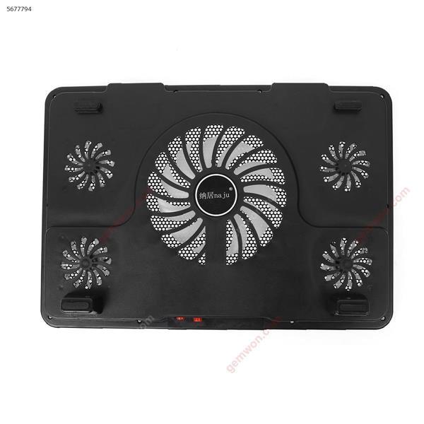 Naju N5 notebook radiator 14-inch 15.6 inch laptop cooling stand exhaust fan base pad black Server Heatsink N5
