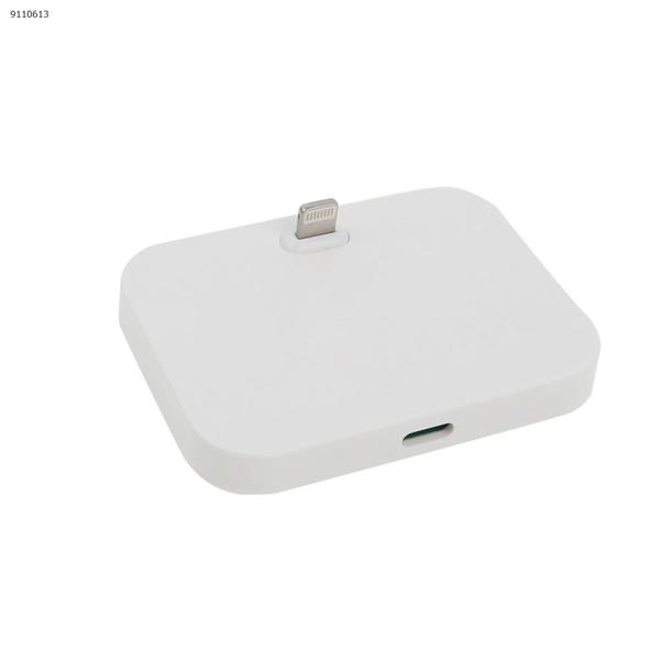Data Sync Charger Docking Station 8 Pin Dock Cradle for Apple iPhone 5 6th White Charger & Data Cable N/A