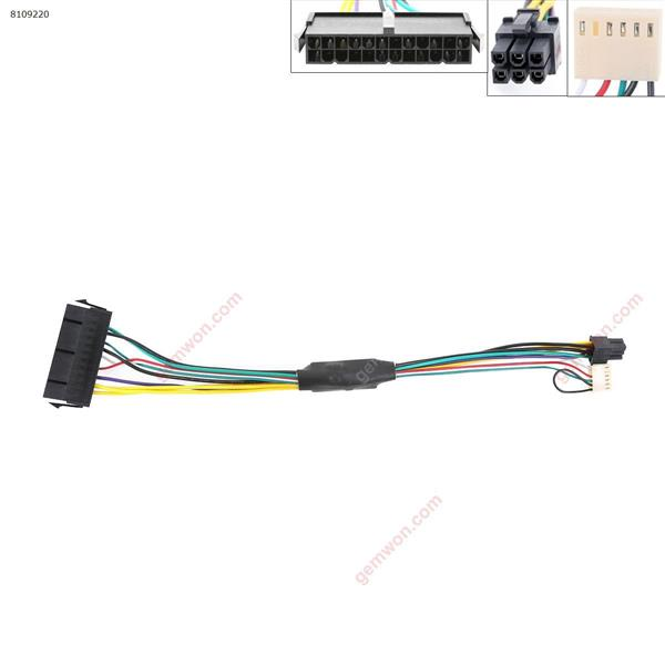 ATX Main 24-Pin to 6-Pin PSU Power Adapter Cable for HP Elite 8100 8200 8300 800 Power Cord N/A