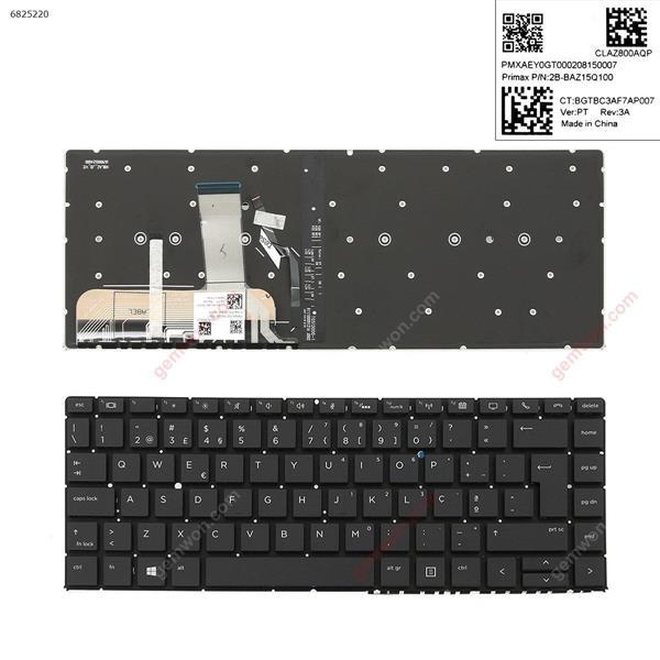 HP EliteBook Folio 1040 G5 BLACK ( without frame , Backlit,Win8) PO 2B-BAZ15Q100 Laptop Keyboard (OEM-A)