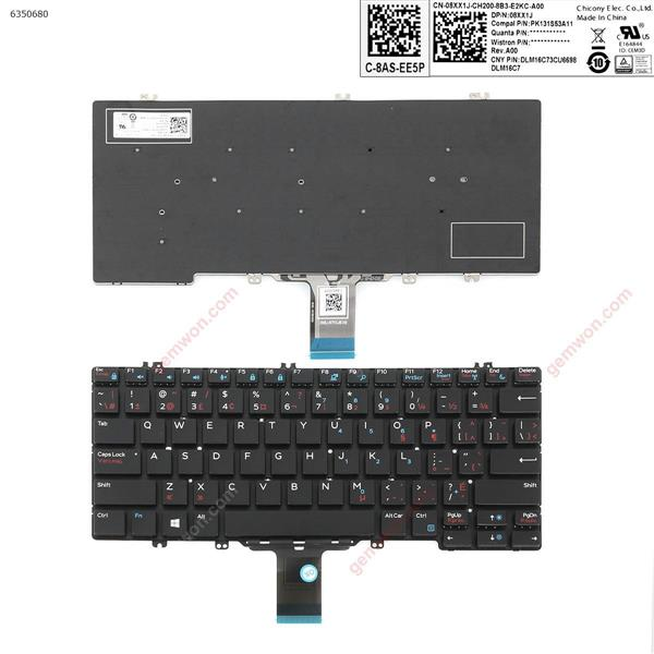 DELL 7280 black (without backlit,small enter) CA/CF PK131S53A11 Laptop Keyboard (OEM-A)