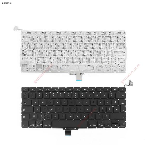 Apple Macbook Pro Unibody  A1278  A1322  MB467  BLACK(without Backlit) CA/CF N/A Laptop Keyboard (OEM-A)