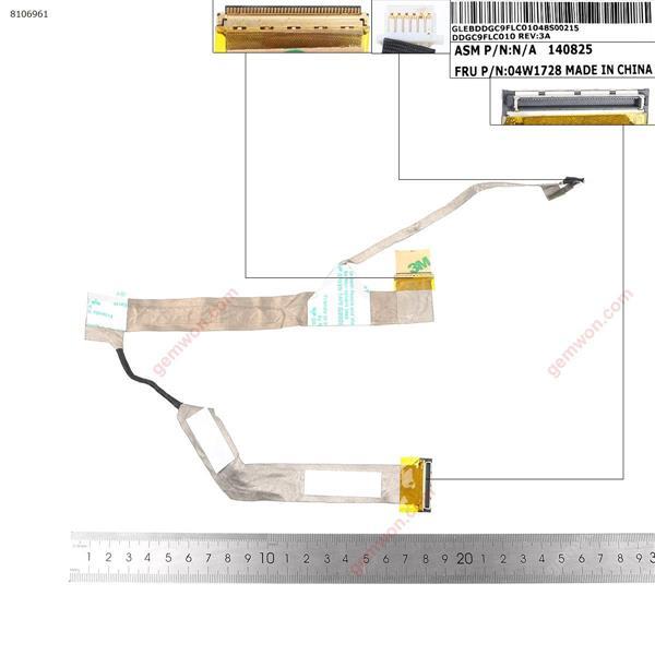 Lenovo IBM ThinkPad L420 L421  LCD/LED Cable DDGC9FLC010  04W1728