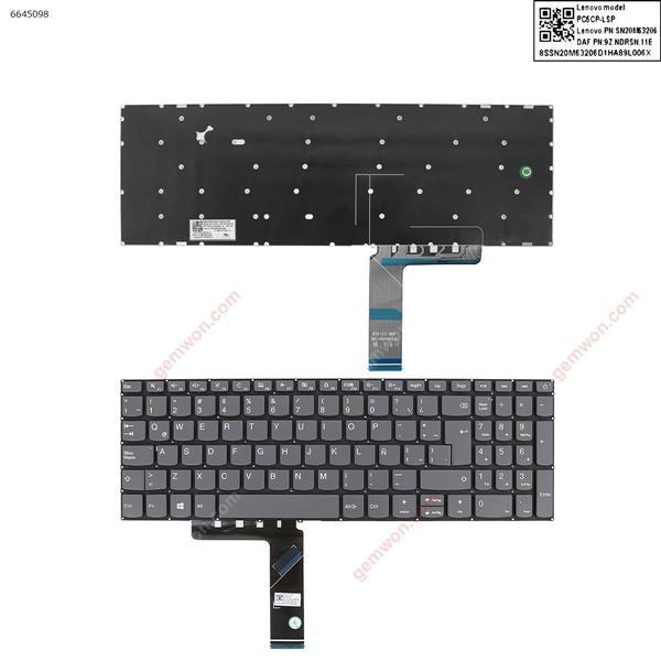 Lenovo IdeaPad 320-15ABR 320-15IAP 320-15AST 320-15IKB 320-15ISK GRAY win8(Without FRAME) LA N/A Laptop Keyboard (OEM-A)