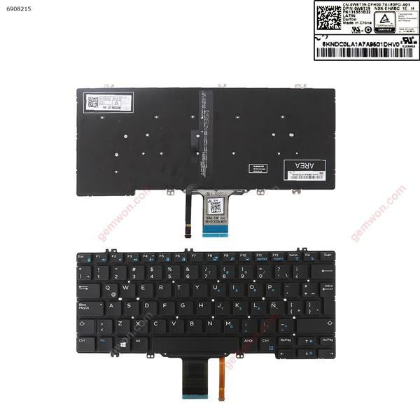Dell Latitude E5280 E5289 E7280 E7390 BLACK (Backlit) LA 0W6T39 DLM16C86LAJ698 Laptop Keyboard (Original)